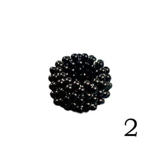 Kristall elastisches Haarband  Pferdeschwanz Inhaber Perle Haarband Zubehör W6Y8