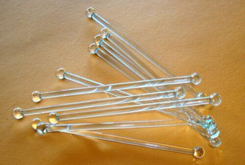 4 Glas Puppenstuben Gardinenstangen 10 bis 25 cm Länge  Puppenhaus Miniatur