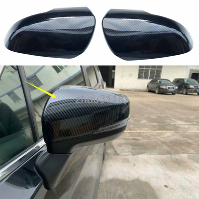 fit for Subaru Forester SK 2019 Carbon Fiber Rear view Mirror Molding Cover Trim