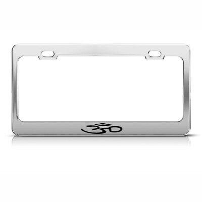 OxGord Metal License Plate Steel Frame Jesus Christ Fish Car SUV Van Truck E
