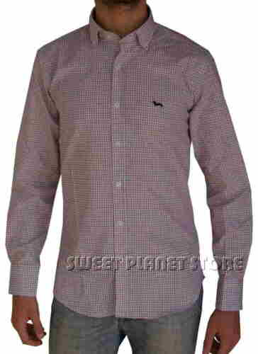 Blu s Tg 46 Col rosso Harmont Camicia bianco Blaine qPzwY