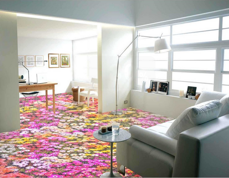 3D Blumenfeld Fototapeten Fototapeten Fototapeten Wandbild Fototapete Tapete Familie DE Lemon 41c46b