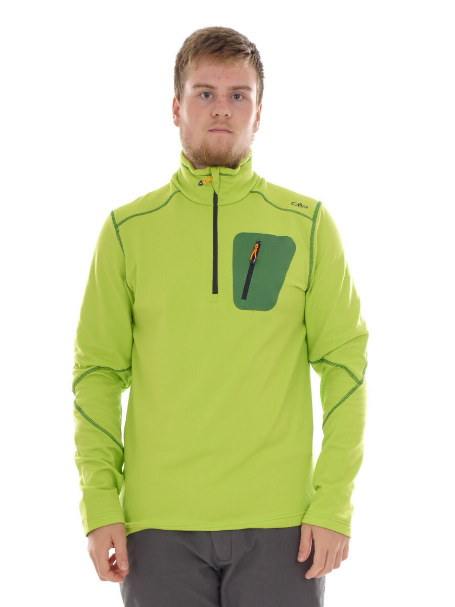 CMP Sweatshirt Function Top Collar Shirt Green Breathable Bag