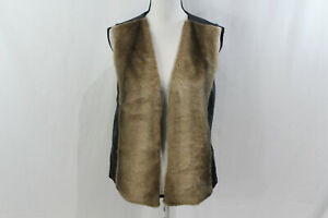 NYDJ-Not-Your-Daughters-Jeans-Womens-Brown-Black-Faux-Fur-Vest-Size-Small