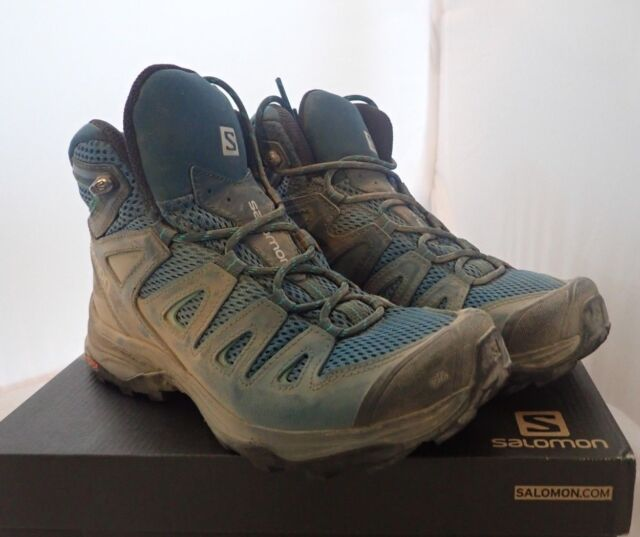 separation shoes 36998 0242a Salomon Women's X Ultra Mid 3 Aero W Trail Running Shoe Mallard Blue 6 M