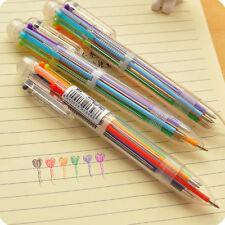 Multi-Color 6 en 1 Colores Bolígrafo Bolígrafos Niños Escuela suministros de oficina