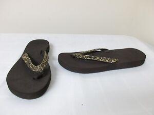 New-Women-039-s-Reef-Star-Cushion-Luxe-1333-Flip-Flop-Thong-Sandal-Brn-Lepard-0J-dc