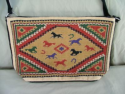 Purse Southwest Design Scorpion Cotton Stencil Bag Shoulder Strap Zipper Closing