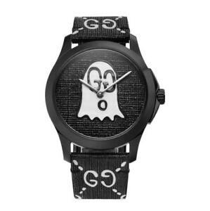 80debfff954 GUCCI YA1264018 GHOST G-Timeless 38mm Rubber Band Unisex Watch FedEx ...