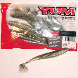 """YUM DINGERS *FISHING LURES 5/"""" FISHING WORMS BAIT 3 COLORS 12 COLORS OTHER AD"""