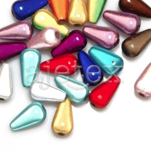Acrylic 3D Illusion Miracle Beads Spacer Cylinder//Teardrop//Oval//Capsule Mixed