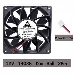 12V-Ball-Bearing-140mm-x-140mm-x-38mm-PC-CPU-Computer-Case-Cooling-Fan-2pin