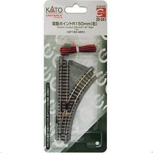 Kato-20-241-Unitrack-Compact-Aiguillage-D-Electric-Turnout-Right-R150-45-N