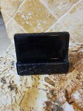 Majorca Full Grain Cowhide Leather Business Card Holder Desk Display Black 32