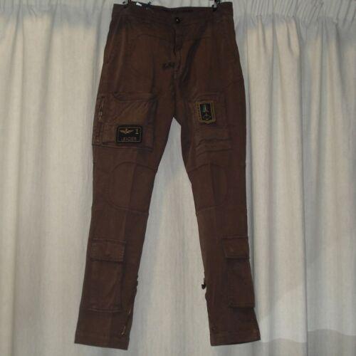 Pantalone Marrone Anti-G con Stemma Frecce Tricolore Aeronautica Militare New...