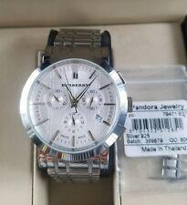 Burberry BU1372 Men's Heritage Chronograph Swiss Watch needs battery NR