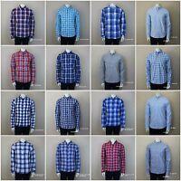 Hollister By Abercrombie Men`s Shirt Classic Plaid Pc Highway Size S,m,l,xl