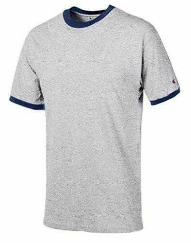 Details about  /3-Pack Mens Champion Ringer Tee Short Sleeve T-Shirt Gray Navy Medium