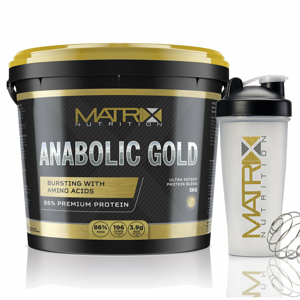 WHEY PROTEIN POWDER ANABOLIC Gold - ALL GrößeS - ALL FLAVOURS - MATRIX NUTRITION