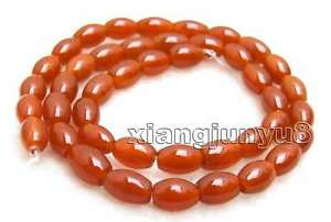 6-9mm-Olivary-Natural-Red-Agate-Beads-for-Jewelr-Making-DIY-Loose-Strand-15-034-672