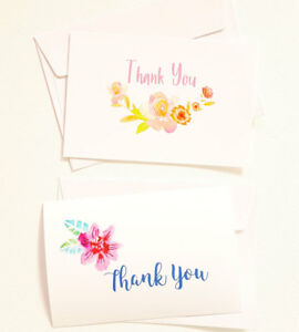 14 thank you cards notes flower wedding business birthday thankful