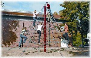 Klettergerüst Spielplatz : Kletterpyramide klettergerüst spielturm kletterturm m