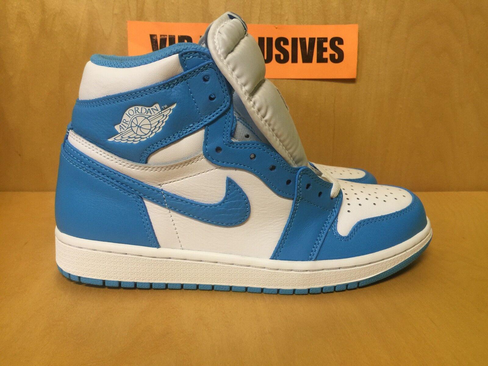 Nike Air Jordan 1 Retro High OG UNC Carolina Powder bluee 555088-117 SHIPPING NOW