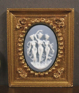 """HALF  SCALE ~  1//2/""""  scale ~  FRAMED  PICTURE ~ Dollhouse ~ 1//24 or 1:12 scale"""