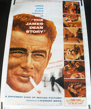 RARE THE JAMES DEAN STORY 1970'S VINTAGE ORIGINAL MOVIE PIN UP POSTER