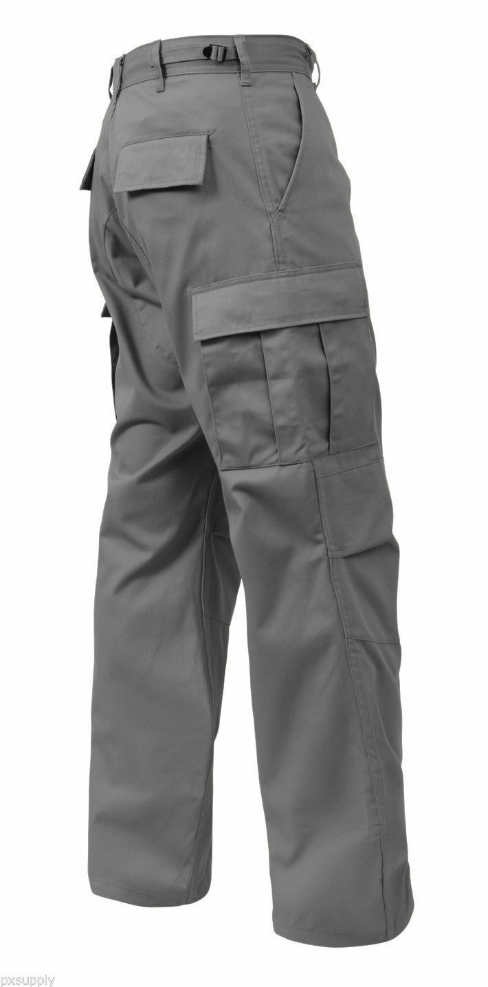 BDU Cargo Pants Military Style BDU Fatigue Grey redhco 8810