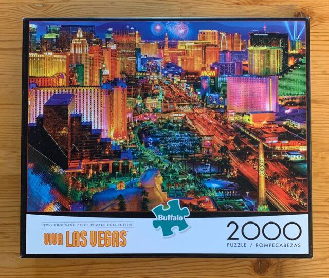 Viva Las Vegas 2000 Piece Jigsaw Puzzle COMPLETE