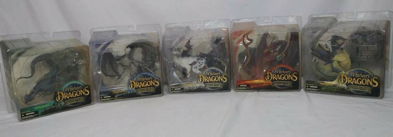 MCFARLANE'S DRAGONS NEW QUEST FOR THE THE FOR LOST KING series one Lot of 5 c83484