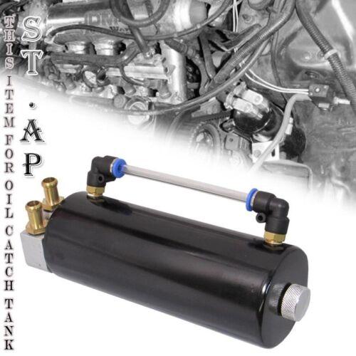 Universal Aluminum Billet High Quality Engine Oil Catch Can Reservoir Tank Black