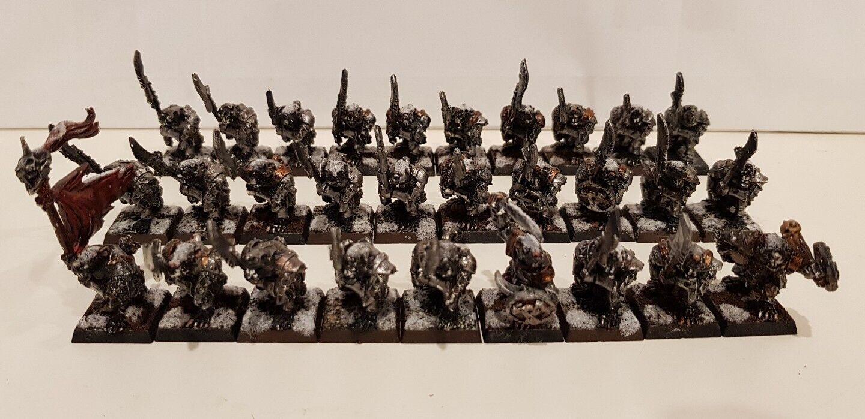 29 x SKAVEN Stormvermin painted metal models includes command scarce OOP
