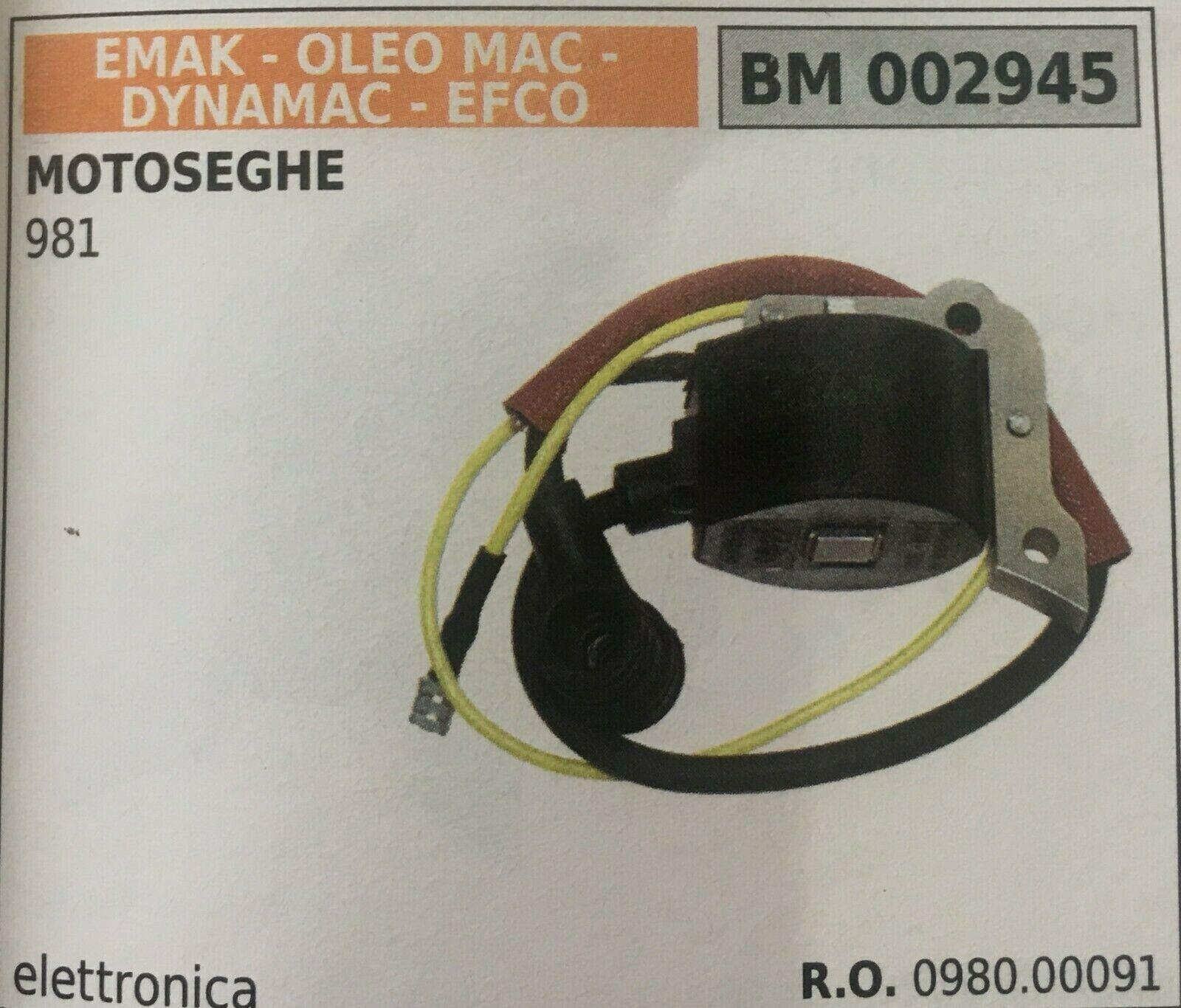 BOBINA ELETTRONICA EMAK OLEO MAC - DYNAMAC - EFCO BM 002945