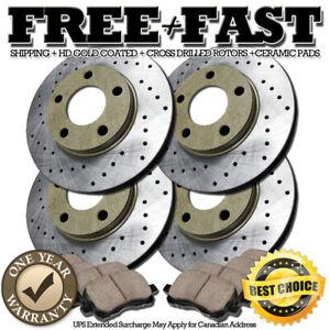"2000 2001 For Ford Explorer Front Brake Rotors /& Ceramic Pads 4WD 11.2/"" Rotor"