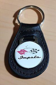 Chevrolet-Impala-Schlusselanhanger-Logo-Racing-Leder-Mase-Emblem-30mm
