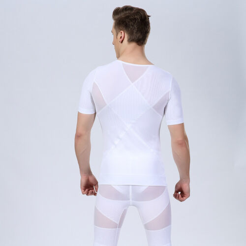 Homme amincissant Compression T Shirt Gilet Pour Gynécomastie Homme Corset Belly Buster