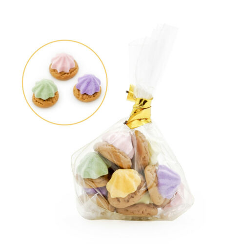 A bag of 10 Cookies 1:12 Miniature Lovely Biscuit Food Kitchen Dollhouse Decor