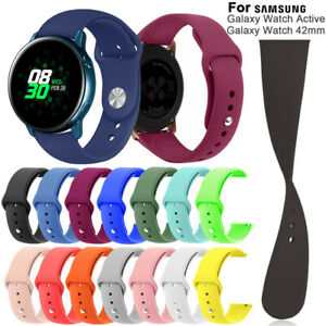 Silicone-Strap-Replacement-Watch-Band-20mm-For-Samsung-Galaxy-Watch-Active-42mm