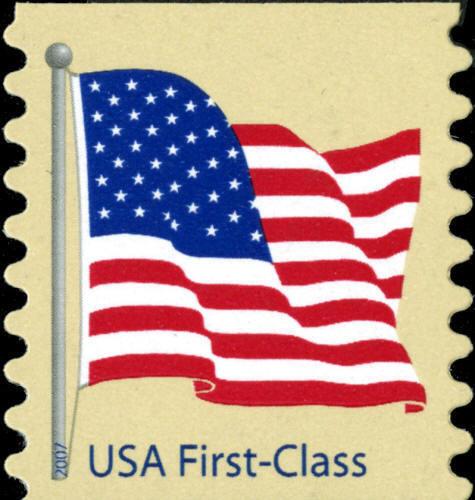 2007 41c American Flag, Coil Scott 4134 Mint F/VF NH