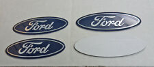 SET OF 4 Blue Ford™ 70mm Oval Decals for Wheel Center Hub Caps Free US Shipping