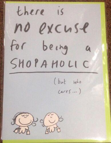 SEALED BLANK CARD PAPERLINK SHOPAHOLIC