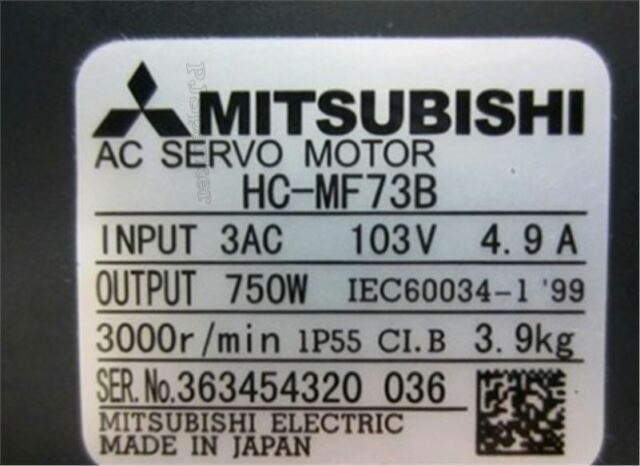 HC-MF73B New Servo Motor 1Pc Mitsubishi il