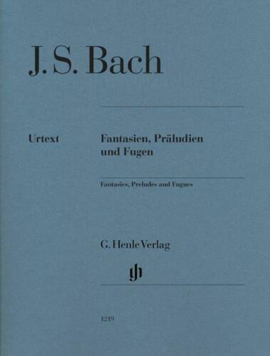 Fantasias Preludes /& Fugues For Piano Edition without fingering Piano Johann Se