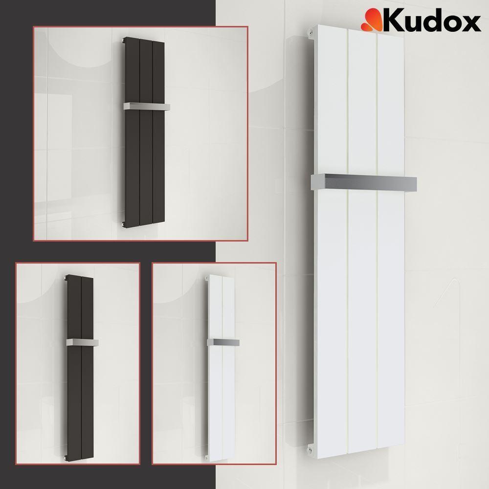 KUDOX  ALULITE  Aluminium Designer Radiateur Chrome & Porte-serviettes 2 Tailles Couleurs