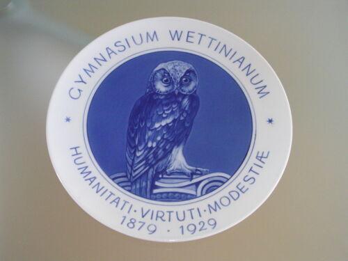 Meissen Wandteller Wall Plate Gymnasium Wettinianum Carl Maria von Weber Dresden