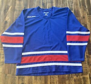 Bauer-Hockey-Jersey-Blue-Red-Size-Small-Practice-Workout-Blank