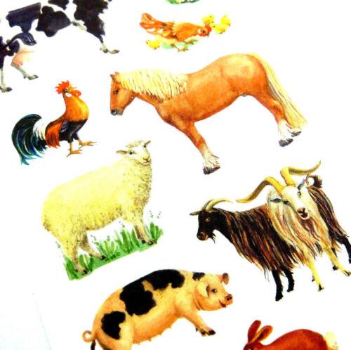 Farm Yard Animal Stickers childrens card making kids decoration labels 53720