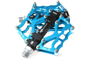 "RockBros Pédales Vélo 9//16 /"" dh Plate VTT Pedale Velo Aluminium Bleu"